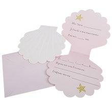 Achat en ligne 8 Invitations coquillage