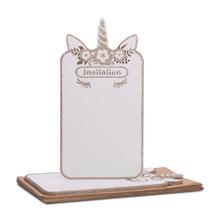 Achat en ligne 8 Invitations licorne