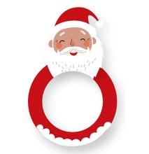 Achat en ligne Lot de 4 ronds de serviette père noël en bois rouge