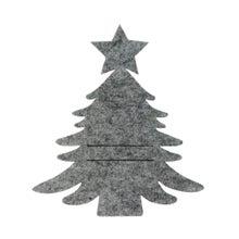 Achat en ligne 6 portes serviettes Sapin en feutrine gris