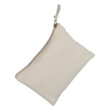 Achat en ligne Trousse fourre-tout en coton recyclé beige 27 x 17 cm