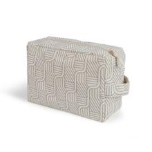 Achat en ligne Trousse de toilette en coton recyclé beige 26 x 18 x 11 cm