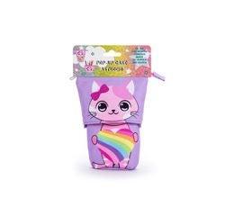 Achat en ligne Trousse rétractable chat arc-en-ciel
