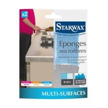 Achat en ligne Eponges microfibre x2 STARWAX