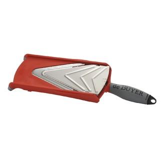 DE BUYER-Mandoline avec poussoir rouge Kobra Axis Lame V19*3
