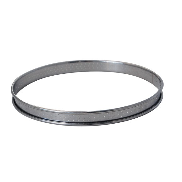 Cerchio per torta inox perforato bordo arrotondato Ø22cm