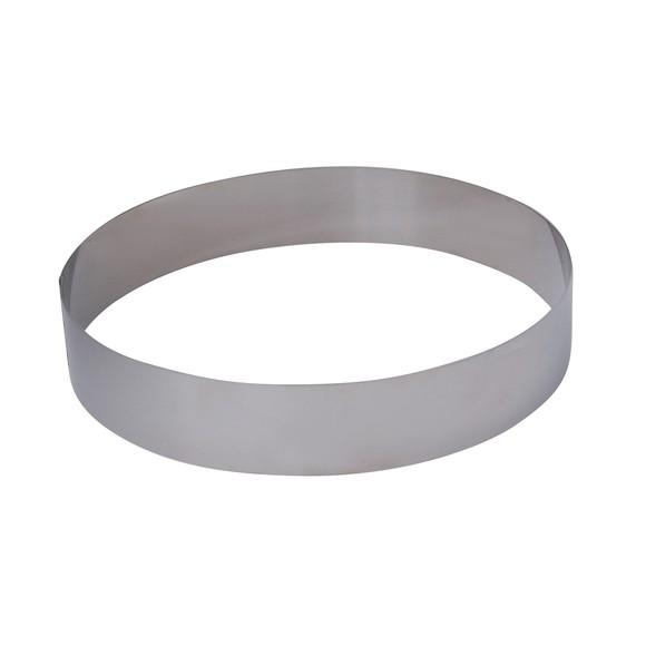 Cerchio da pasticceria in acciaio inox 24cm, alto 4,5cm
