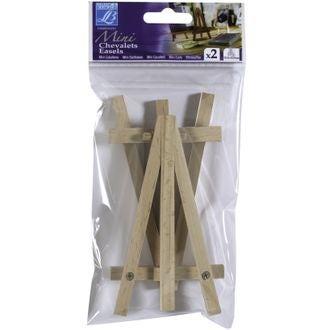Set de 2 minis chevalets en bois