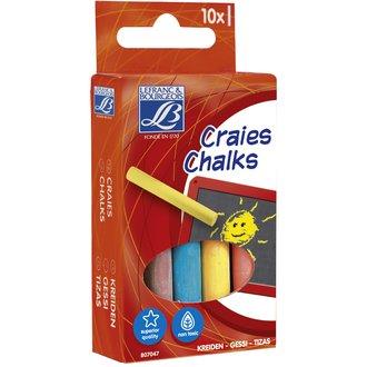 Set de 10 craies de couleurs en boîte