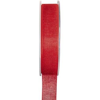 SANTEX - Bobine de ruban en organdi rouge 25mm 20m