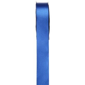SANTEX - Bobine de ruban en satin double face bleu 15mm 25m