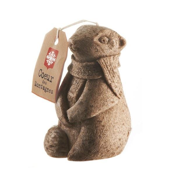 Bougie marmotte marron PM