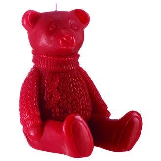 Bougie gaston l'ourson rouge