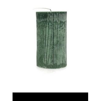 Bougie cylindirque gm effet bois vert