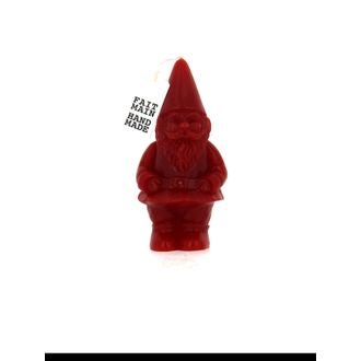 Bougie gnome 14 cm rouge