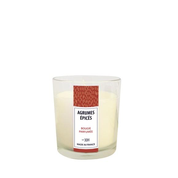 Bougie parfumée agrumes épicés 160g