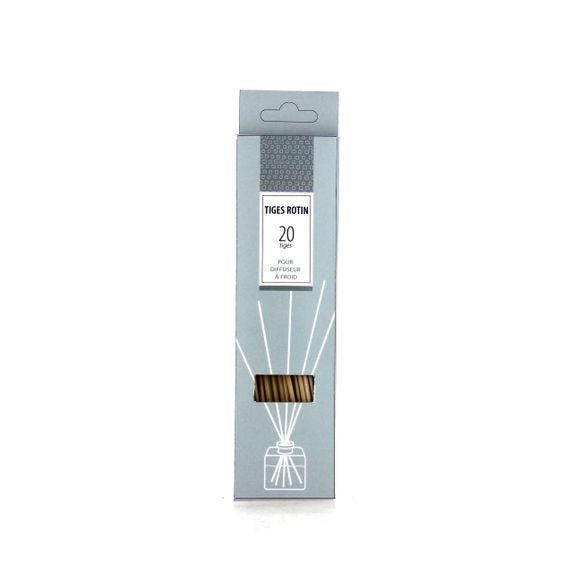 Tiges rotin pour bouquet parfumé x20