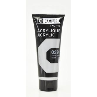 Peinture acrylique argent irisdescent en tube 100 ml