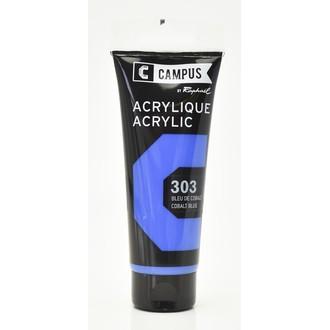 Peinture acrylique bleu cobalt en tube 100 ml