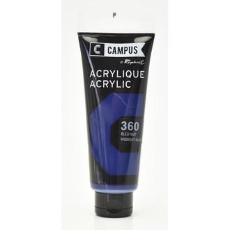 Peinture acrylique bleu nuit en tube 100 ml