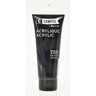 Peinture acrylique noir d'ivoire en tube 100 ml