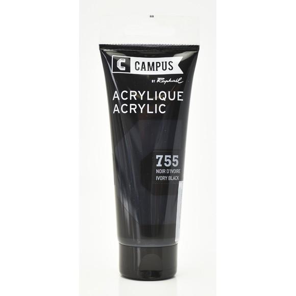 Achat en ligne Peinture acrylique noir d'ivoire en tube 100 ml