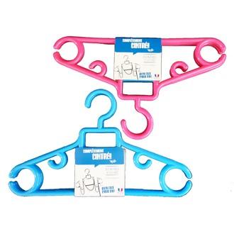 Set de 3 cintres enfant antiglisse bleu et rose