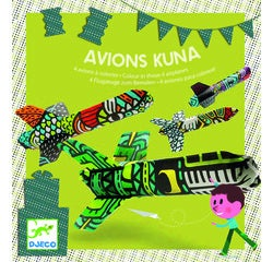 Achat en ligne Jeu de 4 Avions à colorier Kuna
