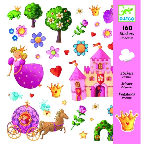 160 mini-stickers princesses marguerite