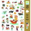 160 mini-stickers pirates
