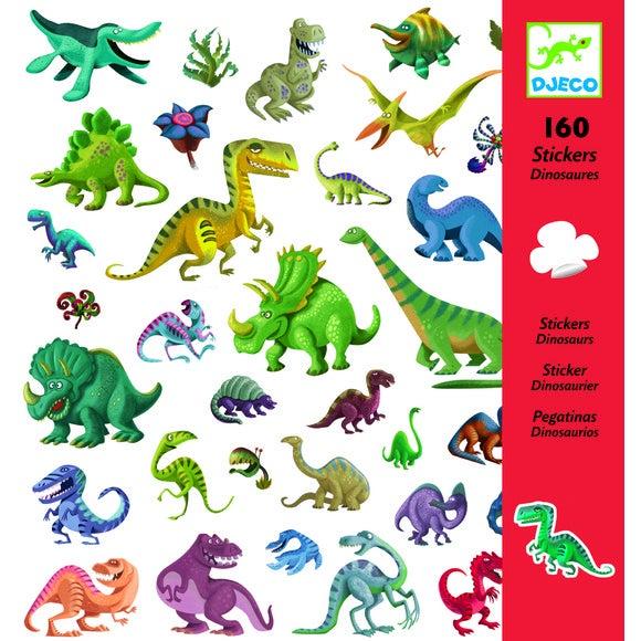 160 mini-stickers dinosaures
