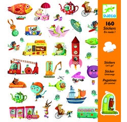 Achat en ligne 160 mini-stickers en route