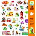 160 mini-stickers en route