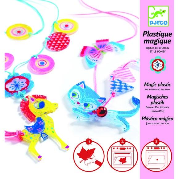 Achat en ligne Kit plastique magique chaton et poney