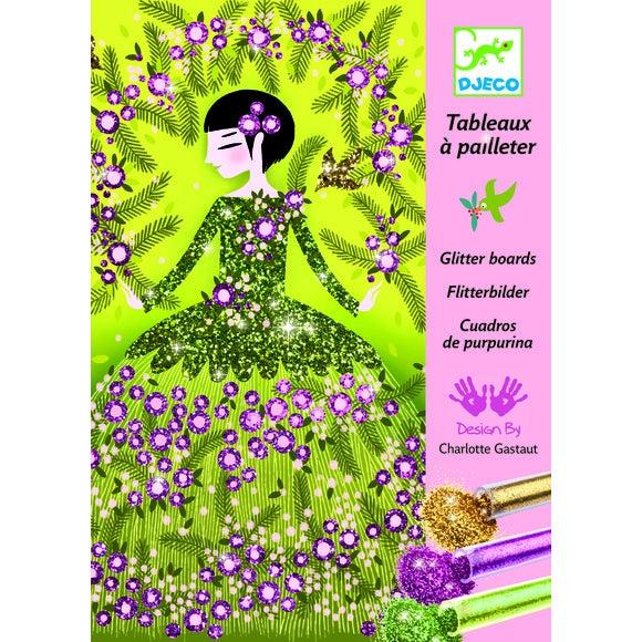 Achat en ligne Kit tableaux à pailleter robes 15x 21cm