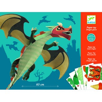 Dragon géant en papier à assembler