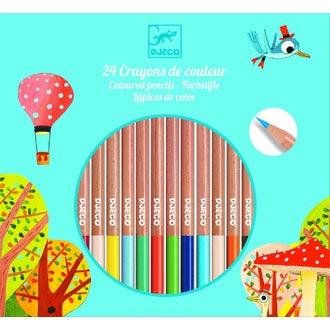 DJECO - Set de 24 crayons de couleur