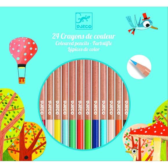 Set de 24 crayons de couleur