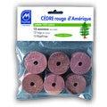 Set de 12 anneaux pour cintres antimites en cèdre