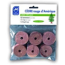 Achat en ligne Set de 12 anneaux pour cintres antimites en cèdre