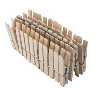 MONDEX - 36 pinces à linge en bois 7,2cm