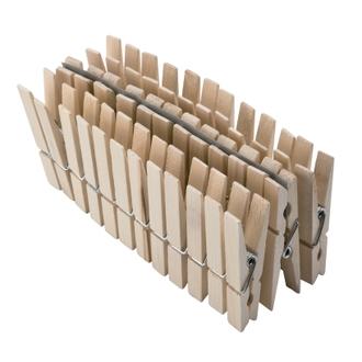 36 pinces à linge en bois 7,2cm