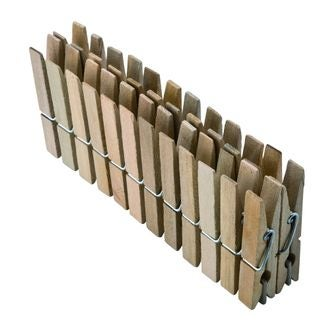 MONDEX - 24 pinces à linge en bois 9,2cm
