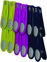Achat en ligne 12 pinces à linge bi-matière rose, violet et bleu
