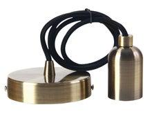 Achat en ligne Monture en métal bronze avec douille lisse E27