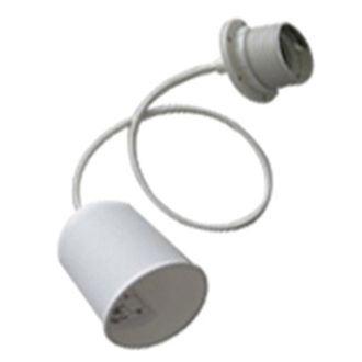 Cable électrique blanc pour suspension de lampe e27