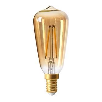 Ampoule ambre Edison filament LED 1W E14