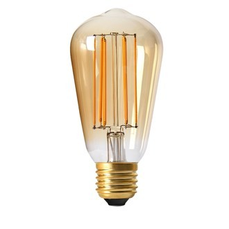 Ampoule dimmable ambrée edison 4w e27 - diam 64mm