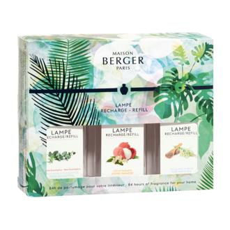 LAMPE BERGER - triopack Immersion, fraicheur eucalyptus, litchi du paradis, thé blanc