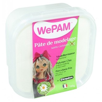 CLEOPATRE - Porcelaine à modeler blanc WePam en pot 145 g